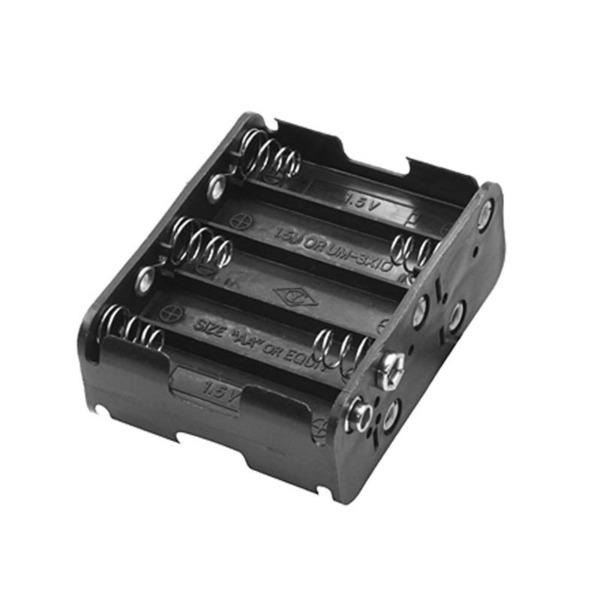 Batteriehalter, 10x Mignon, Druckknopf