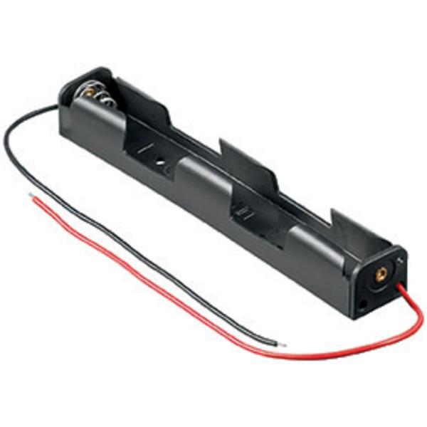Goobay Batteriehalter, 2x Mignon, mit Anschlusskabel