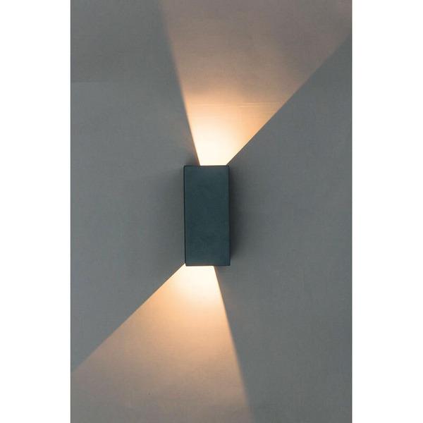 HEITRONIC 6-W-LED-Wandleuchte TILO mit einstellbarem Abstrahlwinkel, warmweiß, IP54