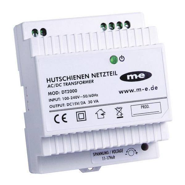 m-e Elektronisches Hutschienen-Netzteil DT2000 für Türsprechanlagen