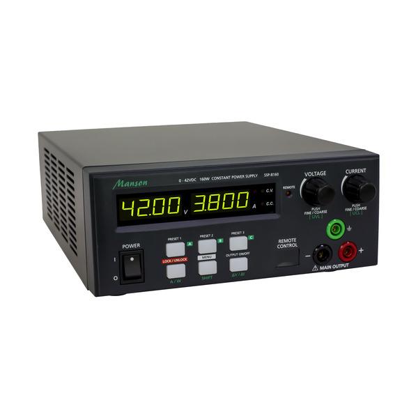 Manson Laborschaltnetzteil SSP-8160 (0-42 V / 0-10 A) mit USB-Schnittstelle, programmierbar