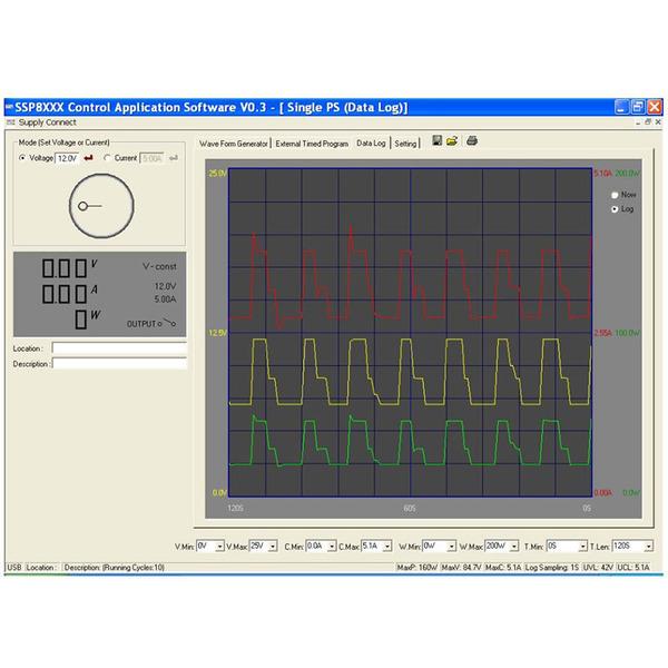 Manson Laborschaltnetzteil SSP-8162 (0-84 V / 0-5 A) mit USB-Schnittstelle, programmierbar