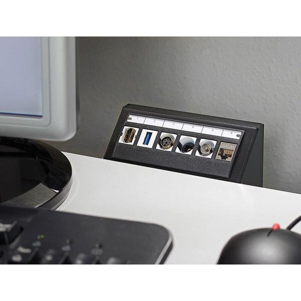 Delock Keystone Halterung Multimedia Panel 6 Port