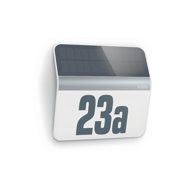 Steinel XSolar LH-N Solar-LED-Hausnummernleuchte, edelstahlfarben