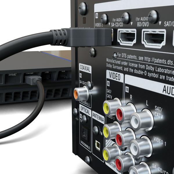 goobay HDMI-Kabel (High Speed mit Ethernet), HDMI-Stecker (Typ A) auf HDMI-Stecker (Typ A), 2 m