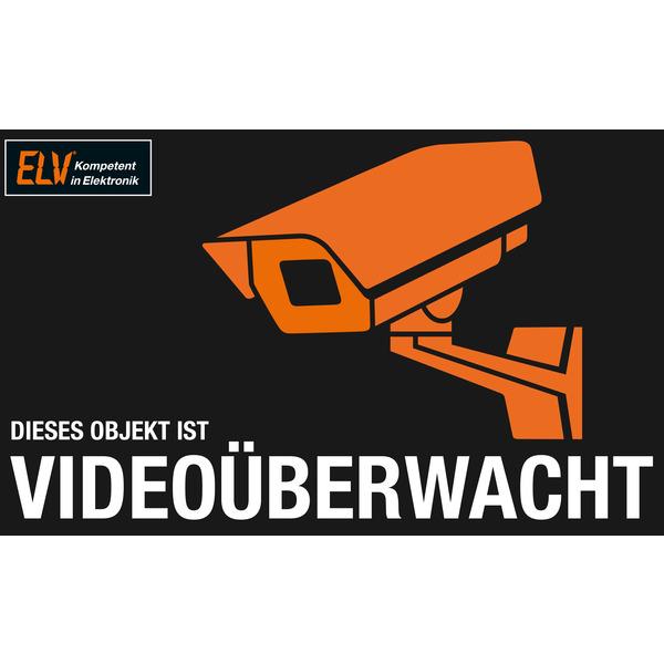 ELV Warnaufkleber Videoüberwachung
