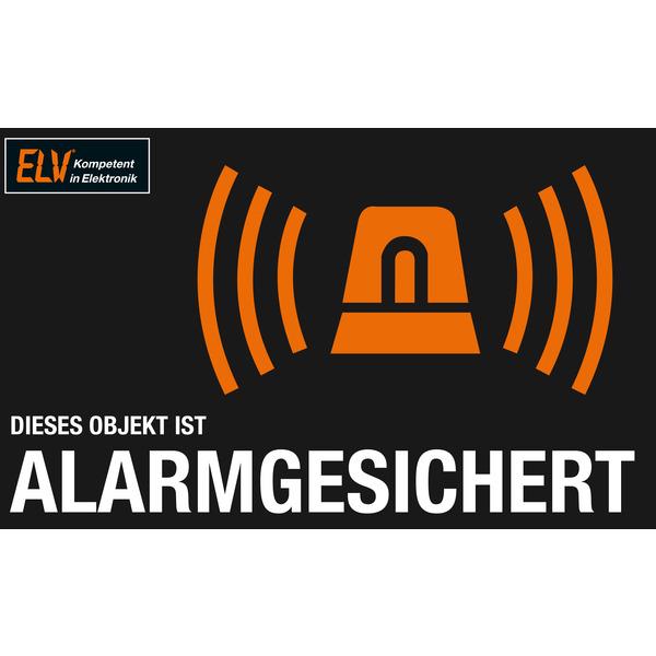 ELV Warnaufkleber Alarmanlage