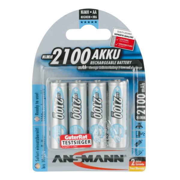 Ansmann NiMH Akku maxE, ready2use Mignon AA 2100mAh, R6 4er Pack