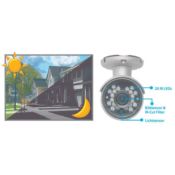 EDIMAX HD WLAN IP-Außen-Netzwerkkamera IC-9110W mit abgesetzter Inneneinheit