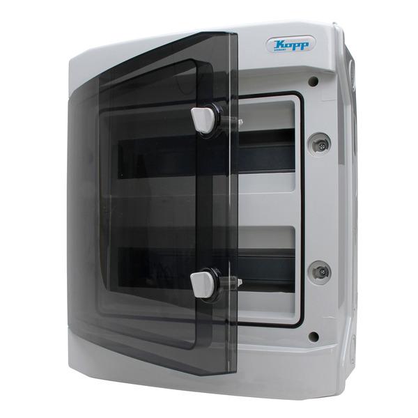 Kopp Feuchtraum-Aufputz-Verteilerkasten mit Tür, IP65, 2-reihig