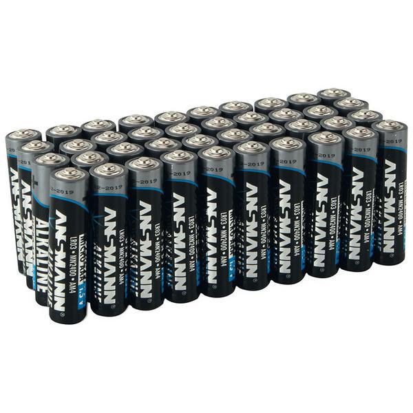 Ansmann Alkaline Batterie Vorratspack, 80 x Mignon AA und 80 x Micro AAA