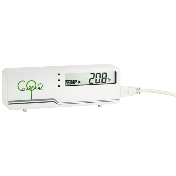 TFA CO2-Messgerät / CO2-Anzeige AirControl MINI, Kohlendioxid-Anzeige, mit LED-Ampel