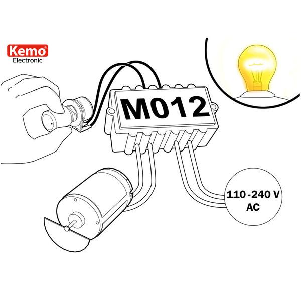 Kemo Leistungsregler M012, 110 - 240 V/AC, 1200 VA