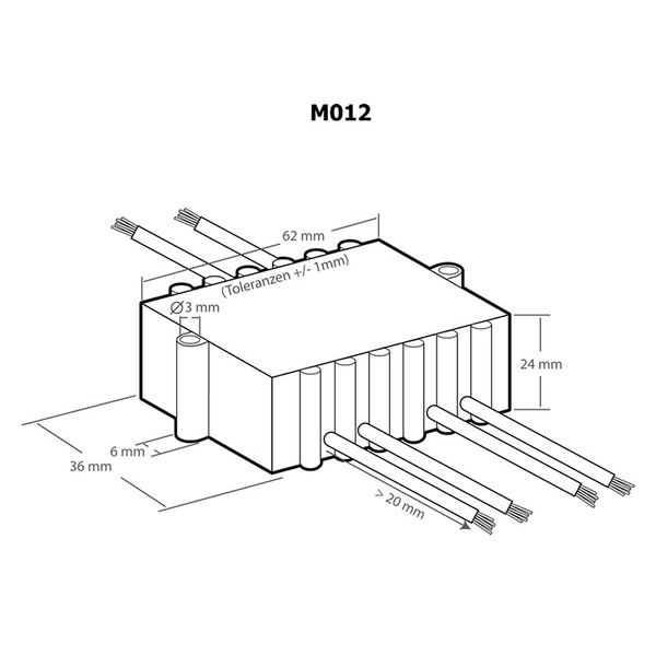 Kemo Leistungsregler M012, 110 - 240 V/AC, 1200 VA, 500K (470K) lin,>0,2W
