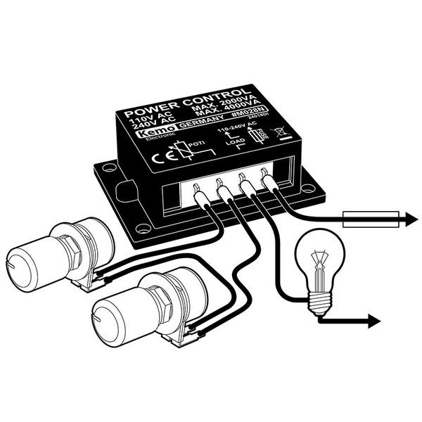 Kemo Leistungsregler M028N, 110 - 240 V/AC, 4000 VA