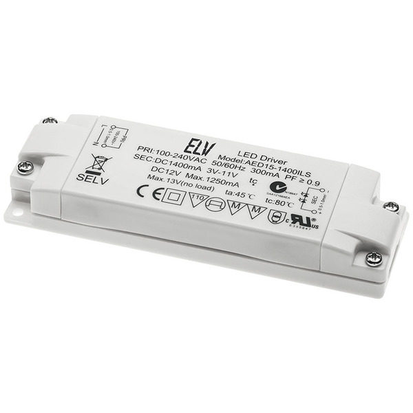 ELV 15-W-LED-Netzteil,12 V DC