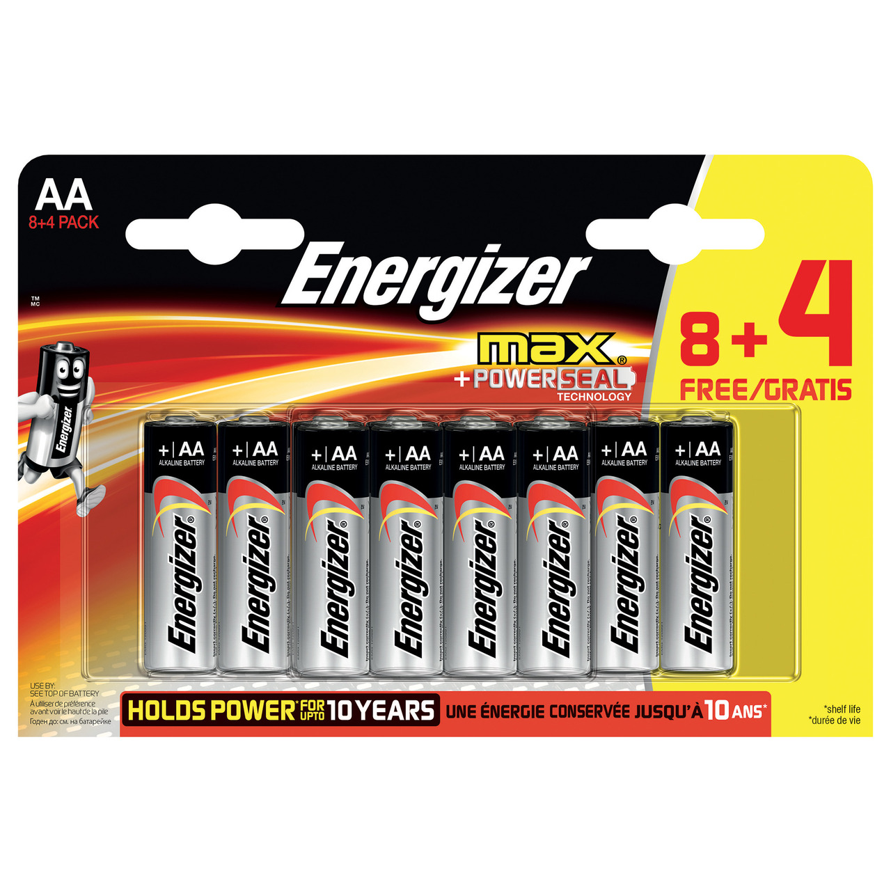 Energizer Max Alkaline Batterie Mignon AA- 8+4 Sparpack