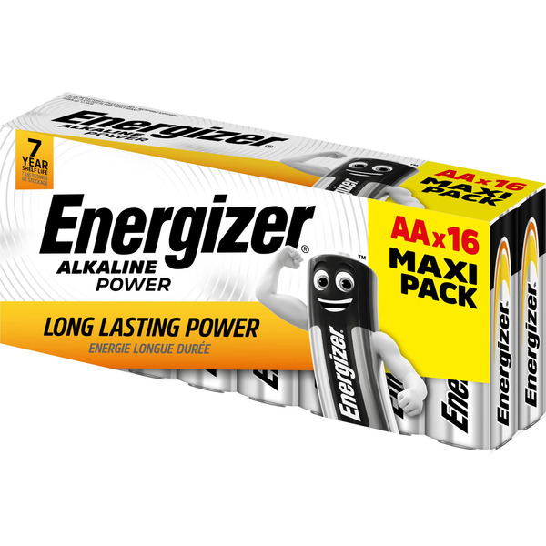 "Energizer Alkaline ""Power"" Batterie Mignon AA, 16er-Pack"