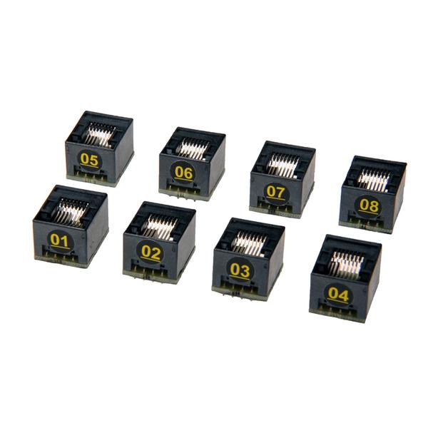 PEAK Gekennzeichnete Adapter IDT8A (01-08) für Kabel-Tester Atlas IT UTP 05, 8er-Set