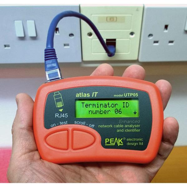 PEAK Gekennzeichnete Adapter IDT8B (09-16) für Kabel-Tester Atlas IT UTP 05, 8er-Set