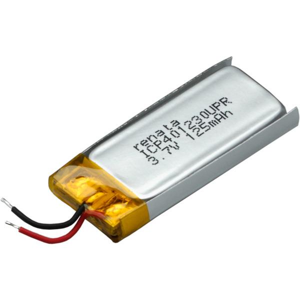 Renata Lithium Polymer Akku mit Schutzschaltung ICP401230UPR 3,7 V 130 mAh