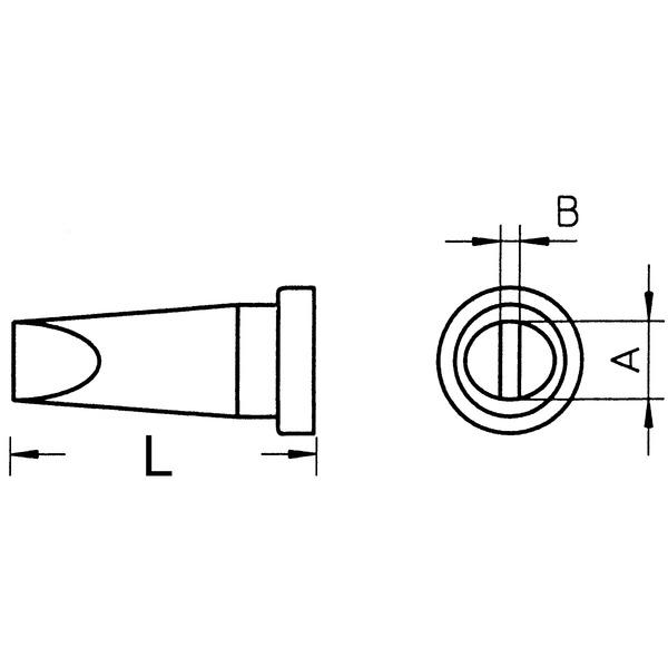Weller Ersatzlötspitze LT H, meißelförmig, Spitze 0,8 mm breit
