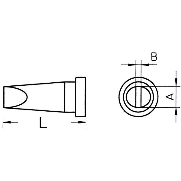 Weller Ersatzlötspitze LT A, meißelförmig, Spitze 1,6 mm breit
