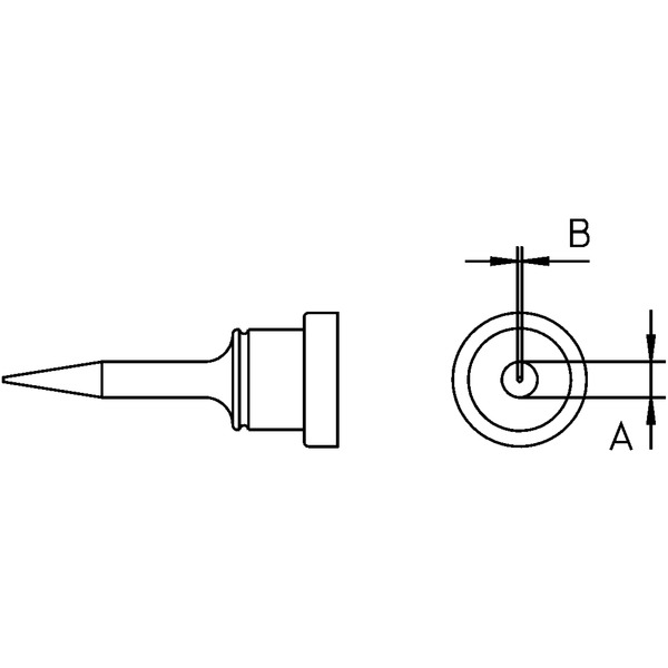 Weller Ersatzlötspitze LT 1S, bleistiftspitz, ø = 0,2 mm