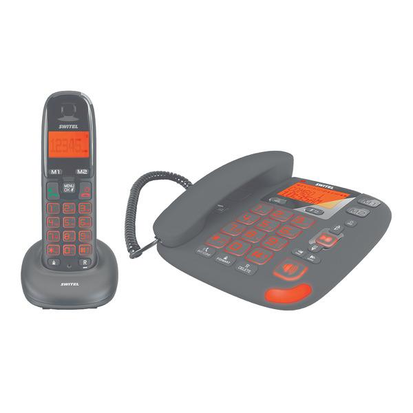 SWITEL Großtasten-Telefon DCT50072 C Vita Combo Comfort