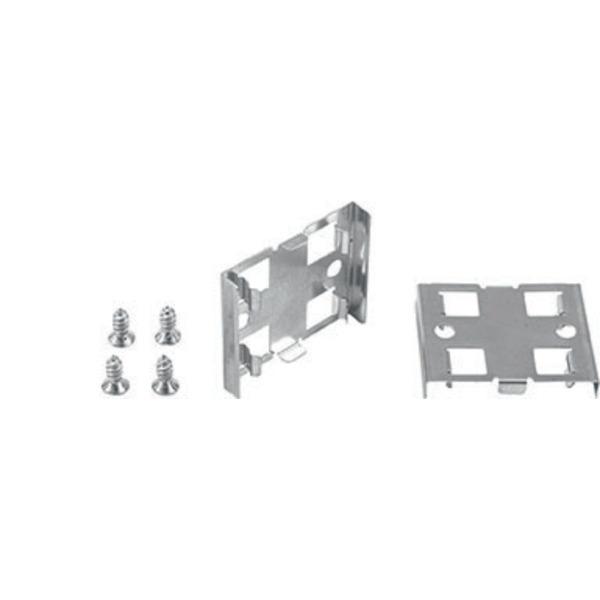 HEITRONIC 2er Set Halteklammern 180°, starr, für Mecano-System