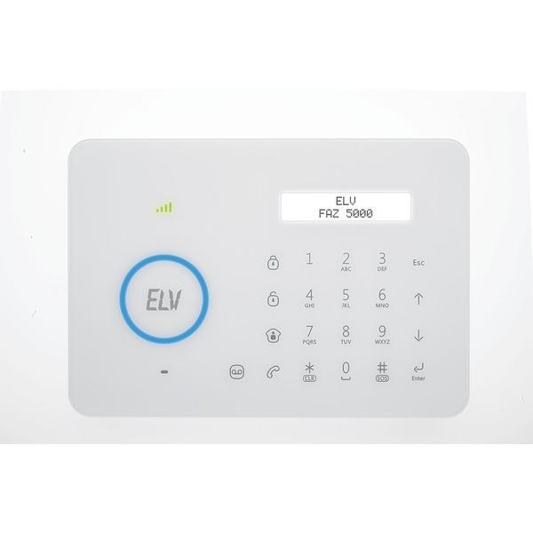 ELV Alarmzentrale mit GSM-Telefonwählgerät für Funk-Alarmanlage FAZ 5000