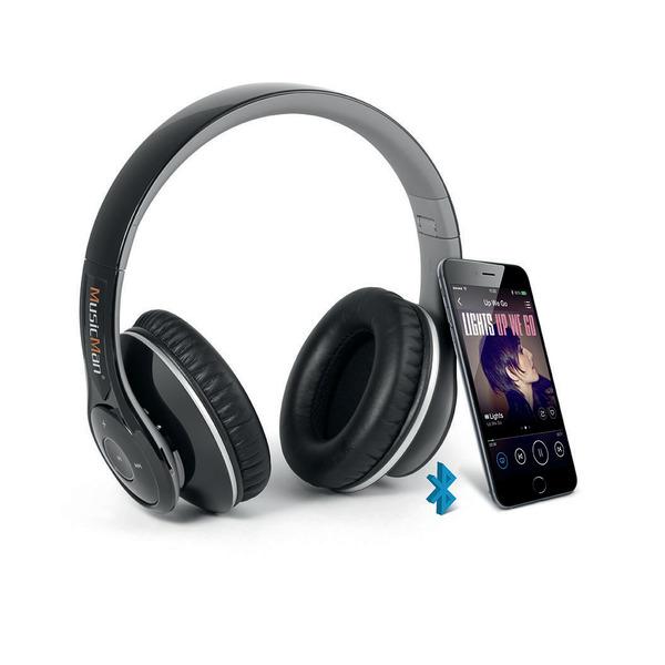MusicMan Bluetooth-Kopfhörer BT-X15 mit integriertem MP3 Player, Bluetooth und UKW-Radio, faltbar