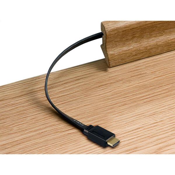 goobay Highspeed HDMI-Flachkabel mit Ethernet, HDMI-Stecker (Typ A) auf HDMI-Stecker (Typ A), 1 m