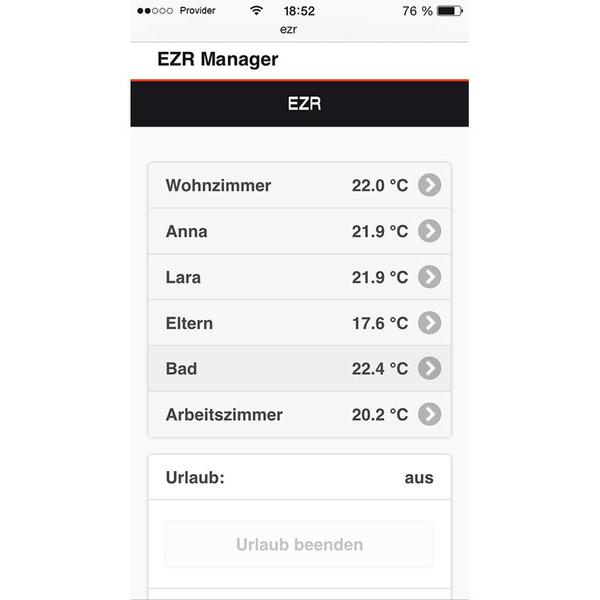 Fußbodenheizungssteuerung Alpha 2, 8 Zonen, kompatibel mit mediola