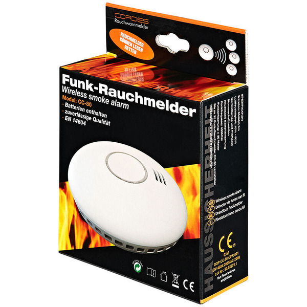 Cordes Funk-Rauchmelder CC-80 inkl. Hitzesensor