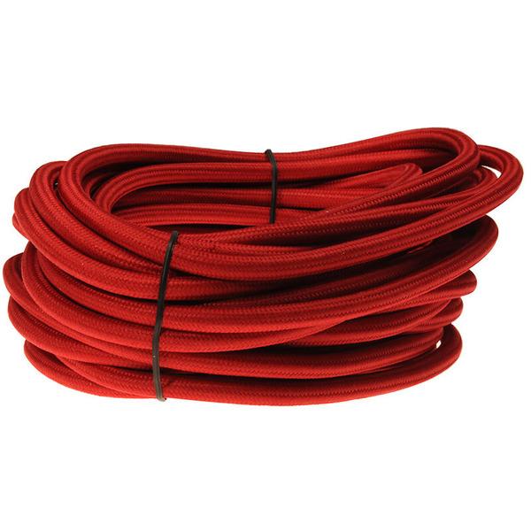BKL Electronic 10-m-Textilleitung H05VV-F 3x1,00 mm², rot