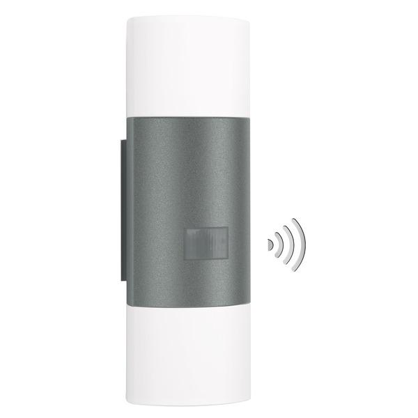 Steinel 12-W-Sensor-LED-Wandleuchte L 910 LED mit 180°-Bewegungsmelder und Grundlichtfunktion