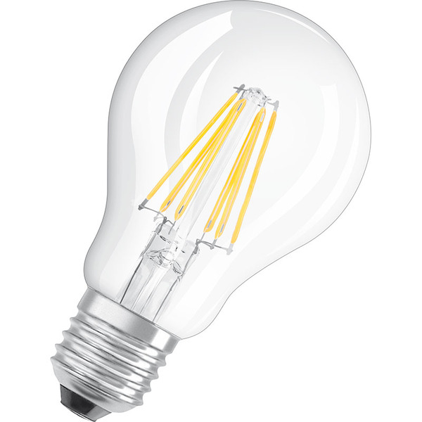 OSRAM 7-W-Filament-LED-Lampe E27, klar, warmweiß