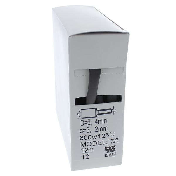 Schrumpfschlauch-Box, schwarz, 12 m, Durchmesser 6,4 mm