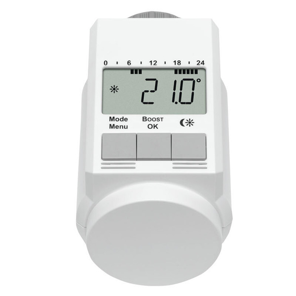 Eqiva Model L Elektronik-Heizkörperthermostat mit Boost-Funktion, 3er-Set