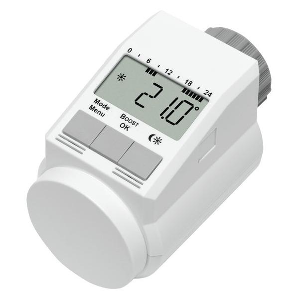Eqiva Model L Elektronik-Heizkörper-Thermostat mit Boost-Funktion, 4er-Set