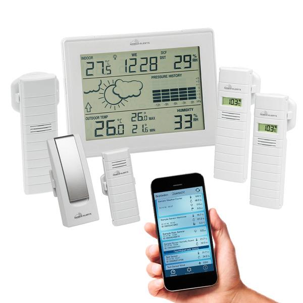 ELV Mobile Alerts Raumklimaüberwachungs-Set (1x Gateway, 1x Wetterstation, 1x Sensor, 3x Sensor)