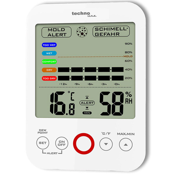 technoline Thermo-/Hygrometer WS 9422, mit Klimakomfortanzeige und Schimmelalarm