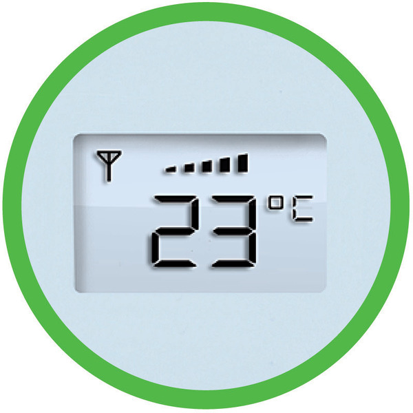 me Funk-Türsprechanlage AC-220 mit Powerbox und Temperaturanzeige für 2-Familienhaus