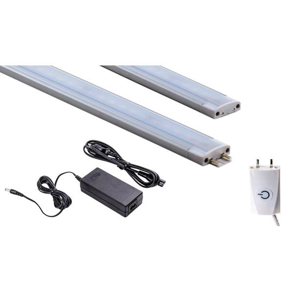 HEITRONIC Starterset 15-W-LED-Unterbauleuchte Mecano 1000 mm und 1,8 m Anschlussleitung