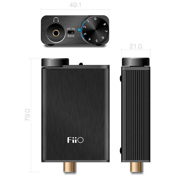 FiiO Portabler Kopfhörerverstärker und Digital-Analog-Wandler E10K Olympus 2, bis zu 96kHz/24Bit