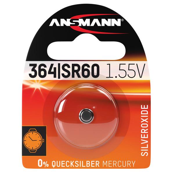 Ansmann Silberoxid-Knopfzelle, Typ AG-1, LR60
