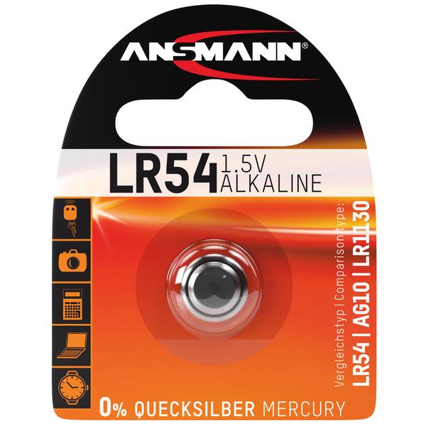 Ansmann Alkaline-Knopfzelle, Typ AG-10, LR54
