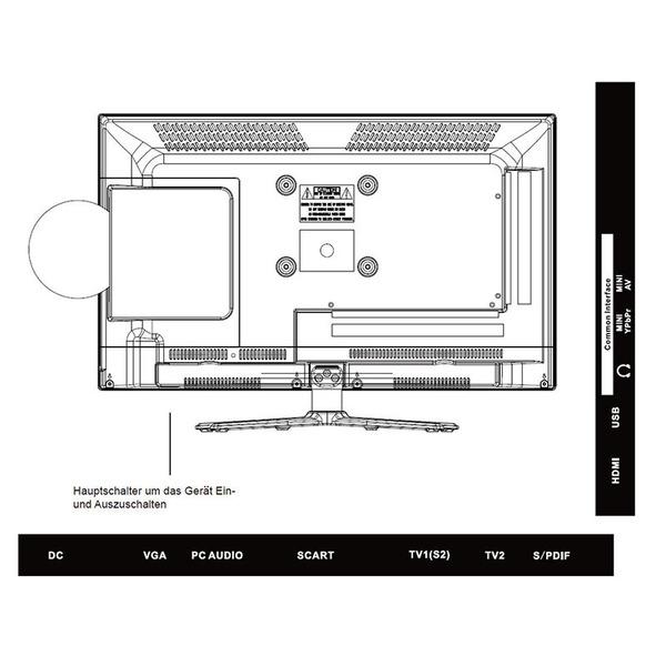 "Reflexion 5-in-1-LED-TV LDDW220, 55 cm (21,5""), DVD-Player, DVB-S/S2/C/T/T2, H.265/HEVC, 1080p"
