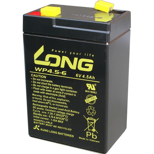 Kung Long Blei-Vlies-Akku WP4.5-6, 6 V, 4,5 Ah